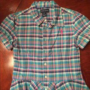 Ralph Lauren girls shirt sz 6